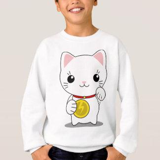 Maneki Neko - White Lucky Cat Sweatshirt