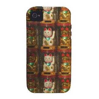 Maneki-neko Winke-Glueckskatzen, Winkekatze Case-Mate iPhone 4 Case
