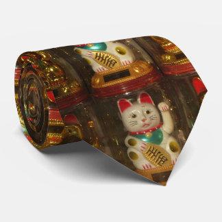 Maneki-neko, Winke-Glueckskatzen, Winkekatze Tie
