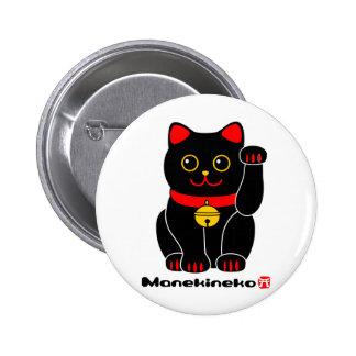 Manekineko-Lucky cat 6 Cm Round Badge