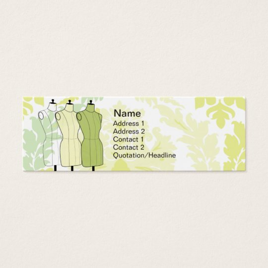 Manequins - Skinny Mini Business Card