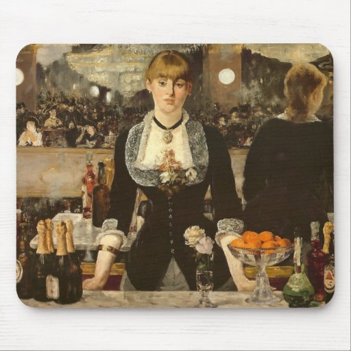 Manet - A Bar at the Folies-Bergere Mouse Pad