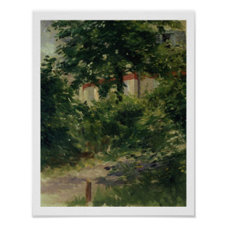 Manet | A Corner of the Garden in Rueil, 1882 Poster