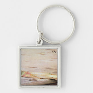 Manet   Asparagus, 1880 Silver-Colored Square Key Ring