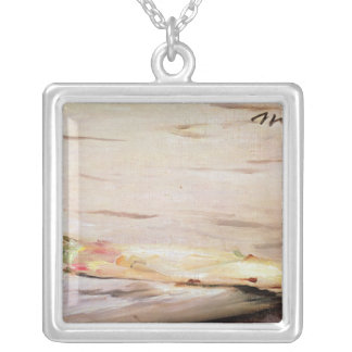 Manet   Asparagus, 1880 Silver Plated Necklace
