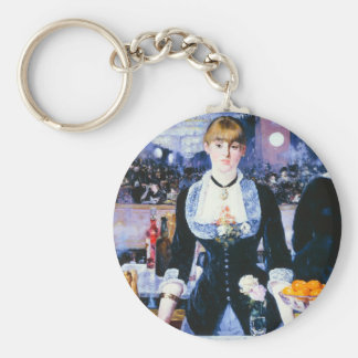 Manet Bar at the Folies Bergere Key Chain