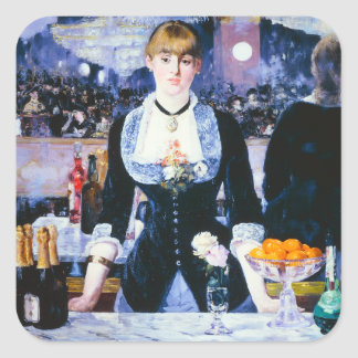 Manet Bar at the Folies Bergere Stickers