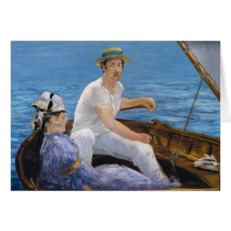 Manet Boating Greeting Card