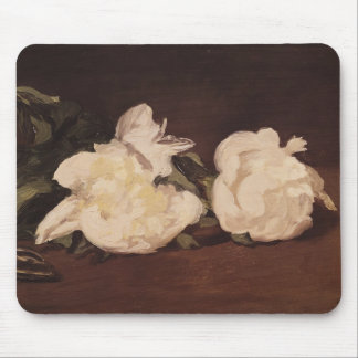 Manet | Branch of White Peonies and Secateurs Mouse Pad