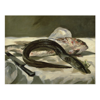 Manet | Eel and Red Mullet, 1864 Postcard