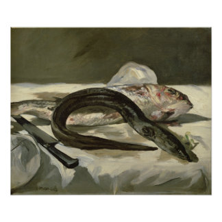 Manet | Eel and Red Mullet, 1864 Poster