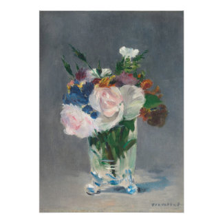 Manet | Flowers in a Crystal Vase, c.1882 Poster