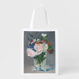 Manet | Flowers in a Crystal Vase, c.1882 Reusable Grocery Bag