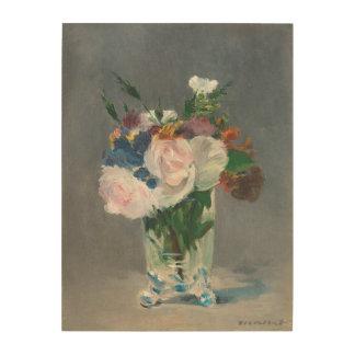 Manet   Flowers in a Crystal Vase, c.1882 Wood Print