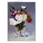 Manet Flowers in a Crystal Vase Card