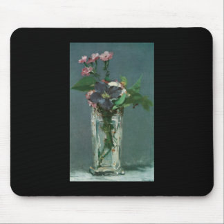 Manet Flowers in a Crystal Vase Mouse Pad