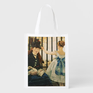 Manet | Gare St. Lazare, 1872-3 Reusable Grocery Bag