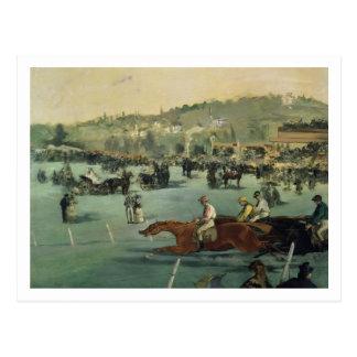 Manet   Horse Racing, 1872 Postcard
