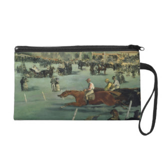 Manet | Horse Racing, 1872 Wristlet Purse