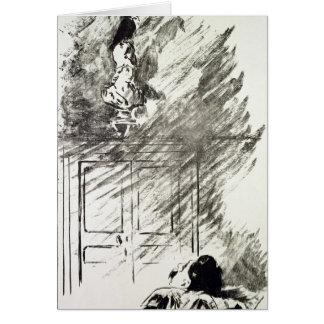 Manet   Illustration for 'The Raven' Greeting Card