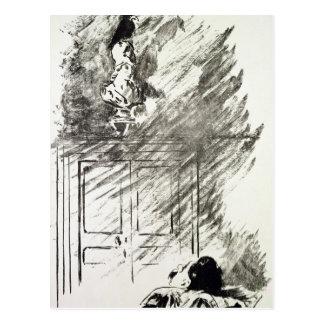 Manet | Illustration for 'The Raven' Postcard