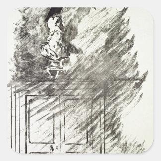 Manet   Illustration for 'The Raven' Square Sticker
