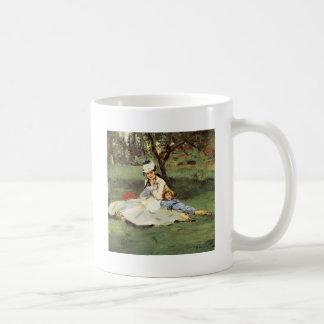 Manet Impressionist French family in garden Mugs