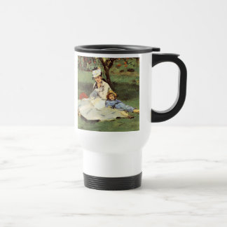 Manet Impressionist French family in garden Coffee Mugs