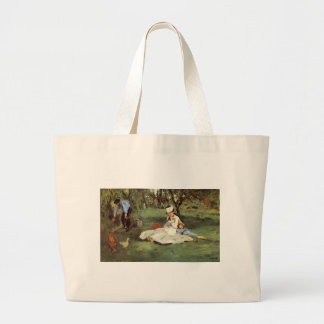 Manet Impressionist French family in garden Jumbo Tote Bag