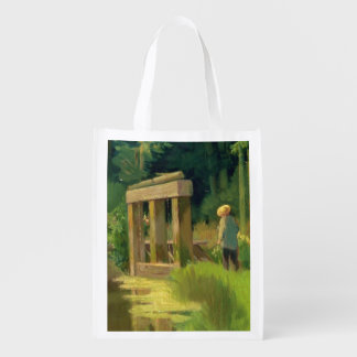 Manet | In a Park Reusable Grocery Bag