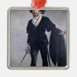 Manet | Jean Baptiste Faure  as Hamlet, 1877 Silver-Colored Square Decoration