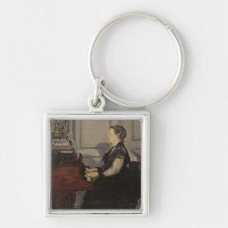 Manet   Madame Manet at the Piano, 1868 Key Ring