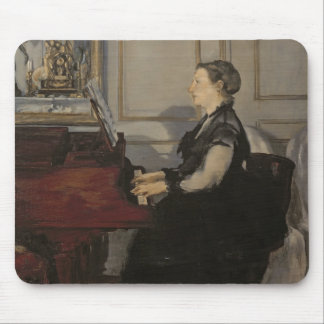 Manet | Madame Manet at the Piano, 1868 Mouse Mat