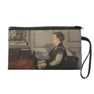 Manet | Madame Manet at the Piano, 1868 Wristlet Purses