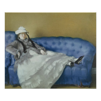 Manet | Madame Manet on a Blue Sofa, 1874 Poster