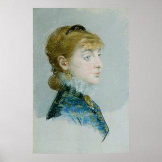 Manet, Mademoiselle Lucie Delabigne Posters