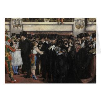 Manet | Masked Ball at the Opera, 1873 Card