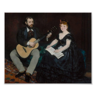 Manet, Music Lesson Poster