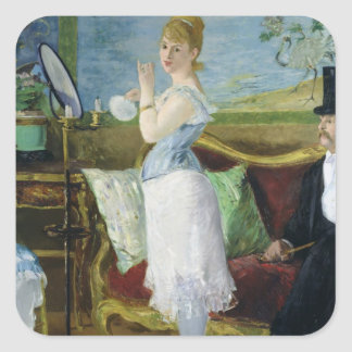 Manet | Nana, 1877 Square Sticker