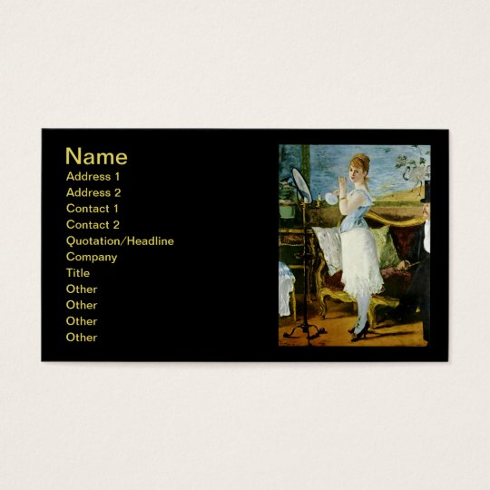 Manet Nana Fine Art Business Card
