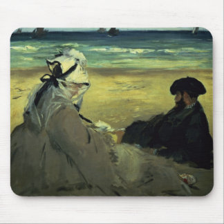 Manet | On the Beach, 1873 Mouse Mat