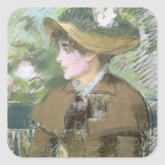 Manet | On the Bench, 1879 Square Sticker