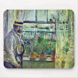 Manet on the Isle of Wight by Berthe Morisot Mouse Pad