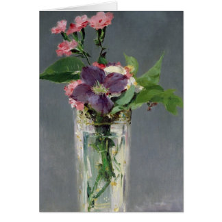 Manet | Pinks and Clematis in a Crystal Vase, 1882 Card