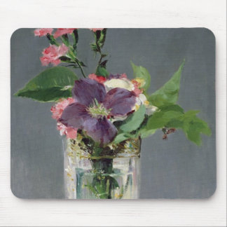 Manet | Pinks and Clematis in a Crystal Vase, 1882 Mouse Mat