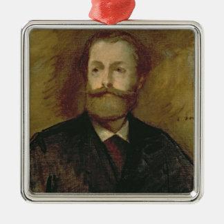 Manet | Portrait of Antonin Proust  c.1877-80 Silver-Colored Square Decoration