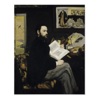 Manet | Portrait of Emile Zola  1868 Poster