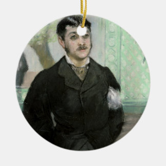 Manet   Portrait of M. Gauthier-Lathuille Round Ceramic Decoration