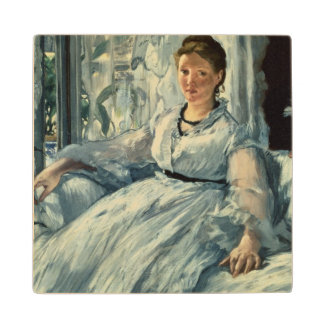 Manet | Reading, 1865 Maple Wood Coaster