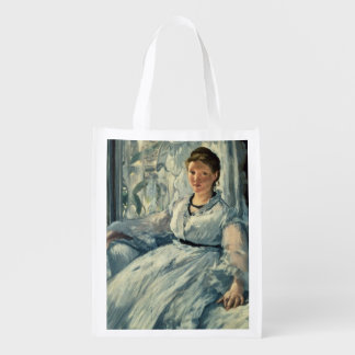 Manet | Reading, 1865 Reusable Grocery Bag